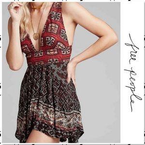 Free People Noyale Heat Wave Boho Summer Dress L